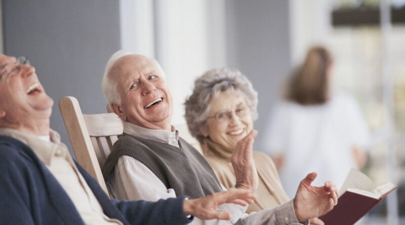 People at a retirement home