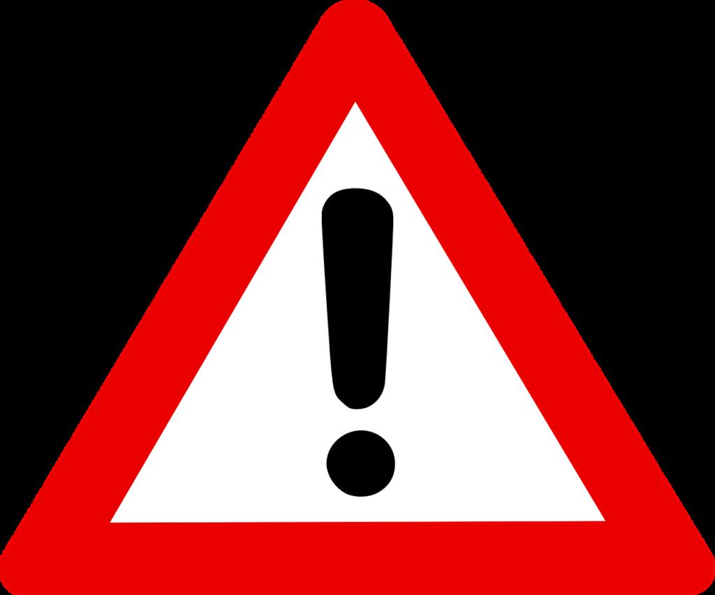 A warning sign