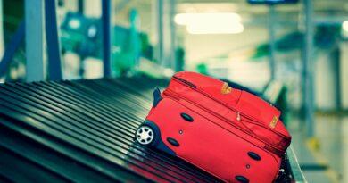 suitcase on luggage carousel