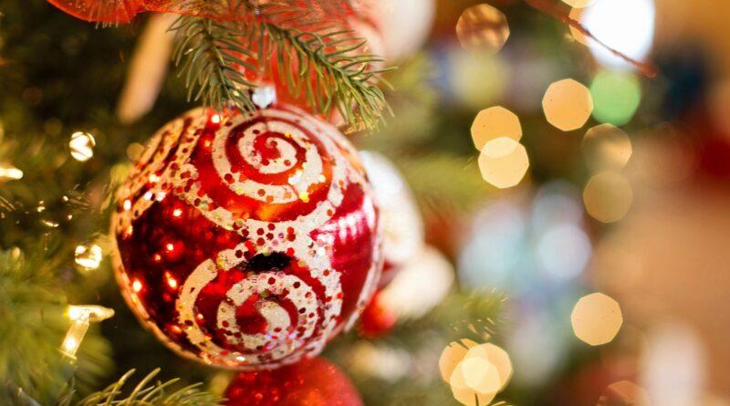 A Christmas Ornament on a Tree