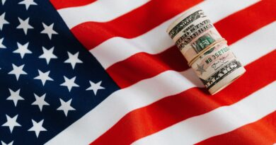 money and US flag
