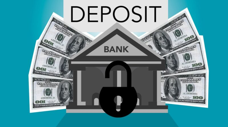 image of money and deposit at bank