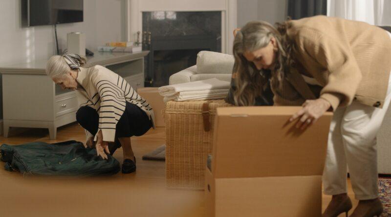 senior women packing