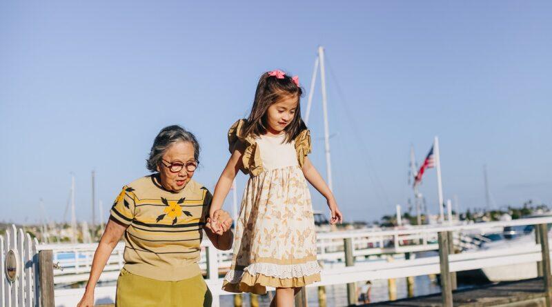 grandma & granddaughter