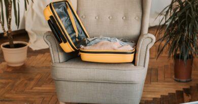 open luggage